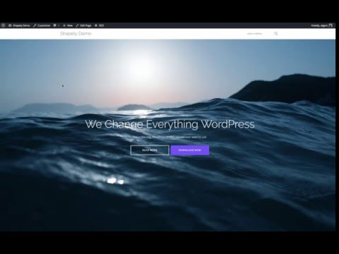 How to setup frontpage for Shapely theme