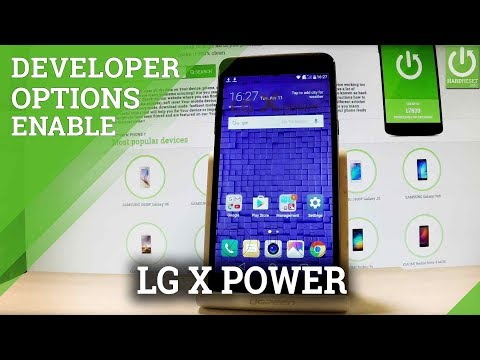 LG X Power Developer Options / Enable USB Debugging