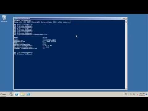 get installed powershell version