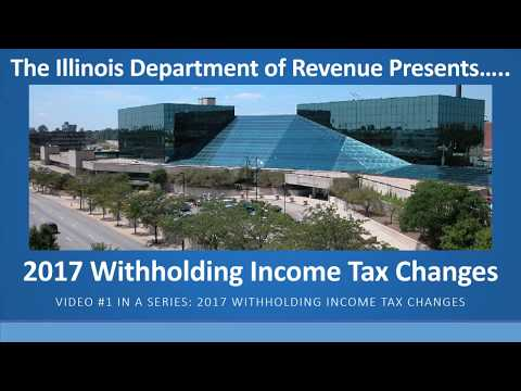 2017 Illinois Withholding Income Tax Changes