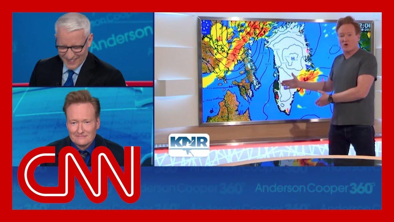 Conan's Greenland weather report cracks up Anderson Cooper