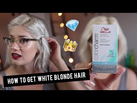 How To Get White Blonde Hair With Wella T18 Toner | Btwsam