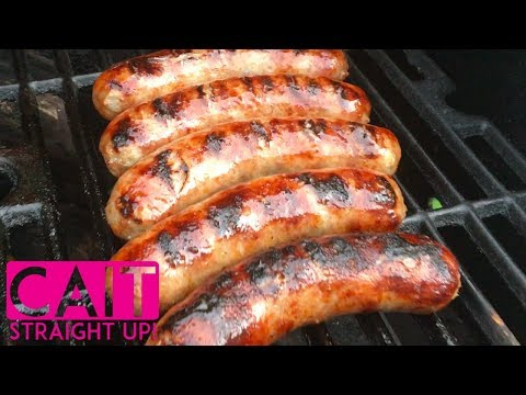 How To Cook Brats On The Grill | Cait Straight Up