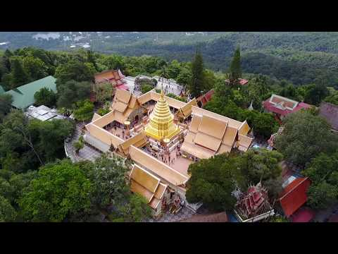 Chiang Mai Wat Phra That Doi Suthep Thailand by Drone