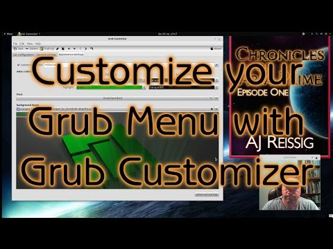 Customize your Grub Menu with Grub Customizer