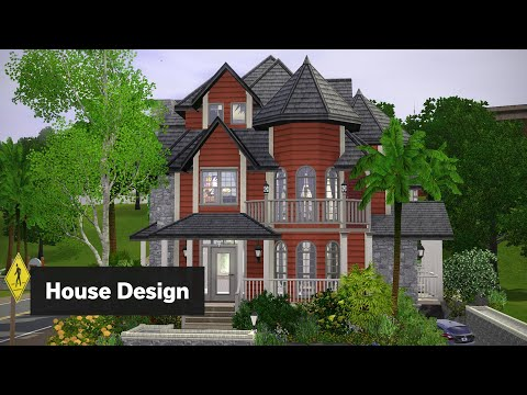 The Sims 3 House Building - Pomegranate Paradise