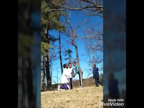2 base Cheer stunts at home