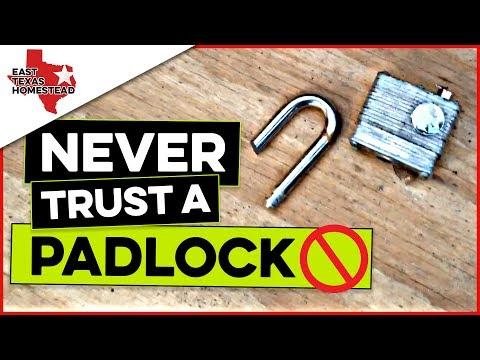 🚫 NEVER Trust a Padlock on Your Trailer [or anything else for that matter] | #EastTexasHomestead