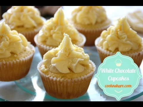 White Chocolate Cupcakes with Buttercream Frosting