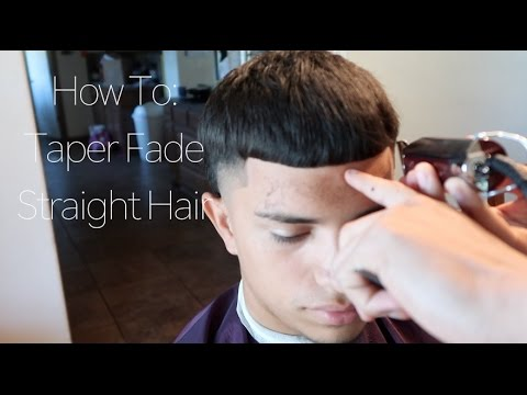 How To: Taper Fade w/ Straight Hair (Haircut Tutorial)