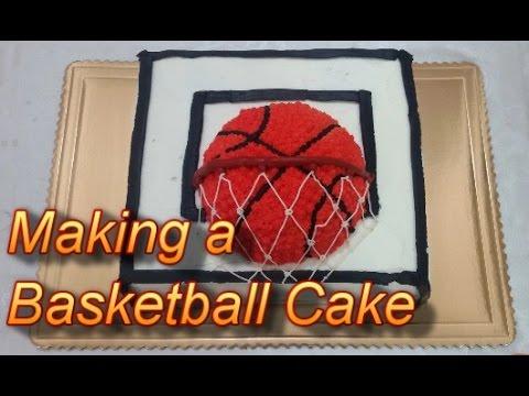 Making a Basketball Cake