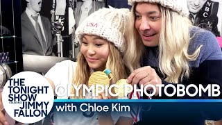Chloe Kim Photobombs Fans and Finds Out She Made the Cover of Kellogg