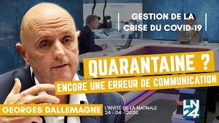 """Georges Dallemagne """"Ne pas rendre la quarantaine obligatoire est une erreur de communication"""""""