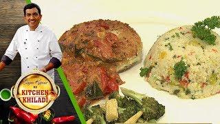 Sanjeev Kapoor Ke Kitchen Khiladi - Ep 11 - Arbi Paneer Tikki, Chocolate Tart and Apple Pie