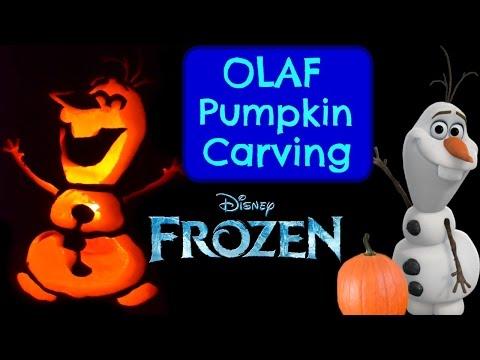 Pumpkin Carving OLAF Disney Frozen Pumpkin Carving Ideas Halloween