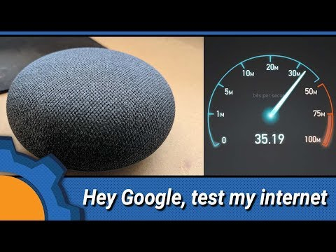 Google Home: test your internet speed