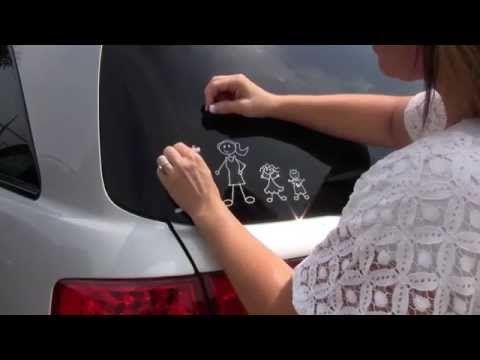 How to Remove Family Stickers from a Car Window