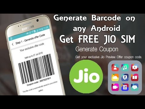 [Hindi] How to Generate Bar Code for JIO 4G Sim after 5th September | Regenerate after code expiry