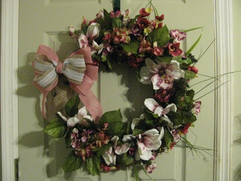 How To Make Carmen's Japanese Magnolia Grapevine Wreath