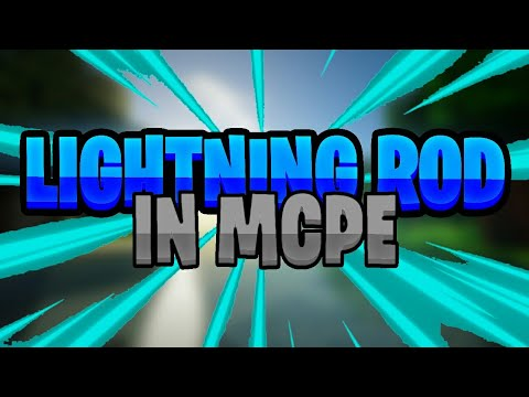 HOW TO MAKE A LIGHTNING ROD IN MCPE {Redstone Creation}