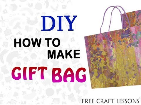 How to make Gift Bag   Paper Hand Bag   Free Craft Lessons   easy DIY