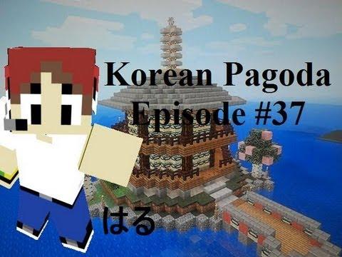 Minecraft Asian Tutorials #37: How to make a Korean Pagoda