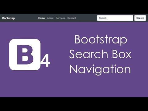 Bootstrap 4 Search Box Navigation Menu