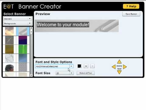 Staff guide to adding a banner to a module on Blackboard