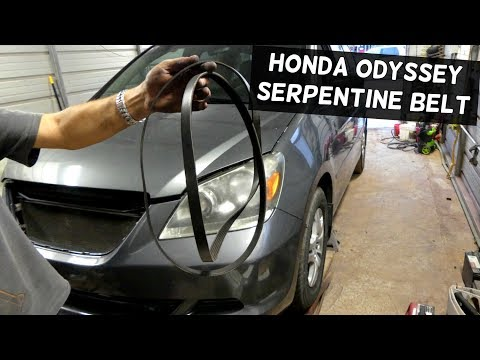 HONDA ODYSSEY 3.5 SERPENTINE BELT REMOVAL REPLACEMENT DIAGRAM
