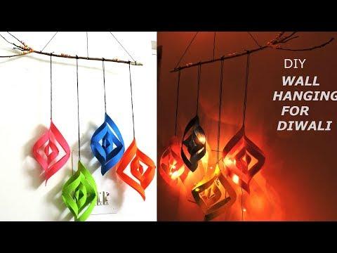 DIY: Room Decor Ideas for Diwali/ Wall Hanging Craft ideas/ Wall Decoration Ideas