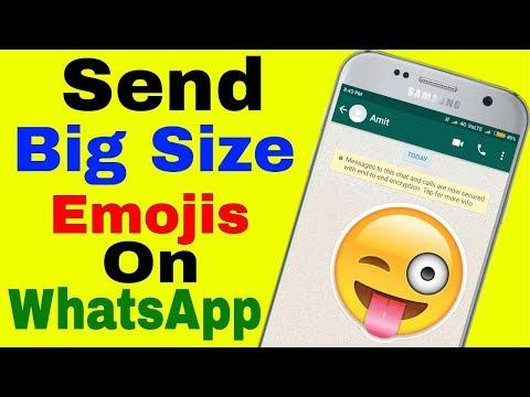 Send Big size Emojis on Whatsapp (In Hindi) || By Technical Point 4U👆