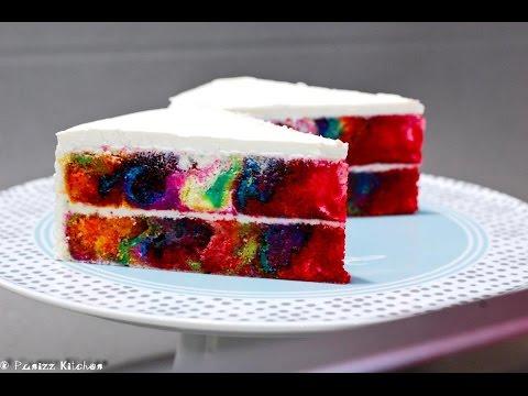 Multi colored marble cake recipe