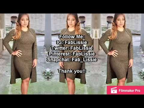 HOW TO MAKE A SWEATER DRESS & DUSTER || Using Simplicity Newlook 6482 pattern ||