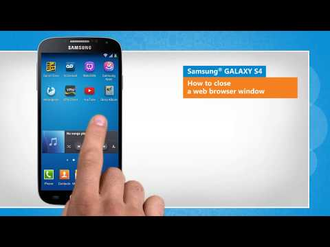 How to close a web browser window in Samsung® GALAXY S4