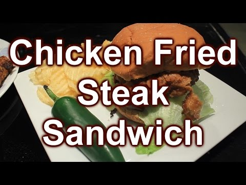 How to make Double Dipped Chicken Fried Steak Sandwich