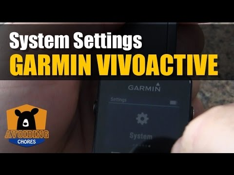 Garmin Vivoactive   System Settings