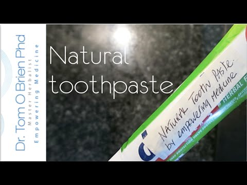 How to make Natural Toothpaste #herbalmedicine