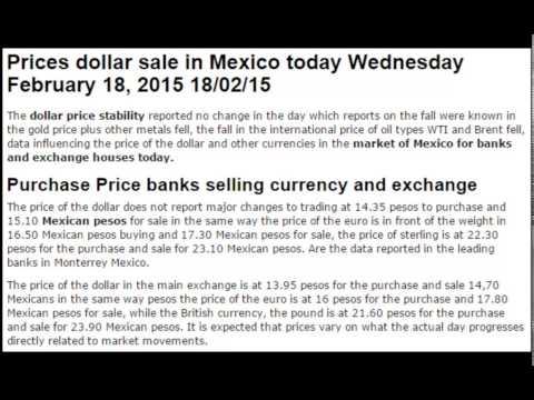 Dollar prices exchange rates British pound euro pesos Today February Wednesday 18 2015 18/02/15
