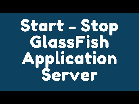How to start - stop GlassFish application server through command prompt and NetBeans ?