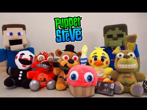 Five Nights at Freddy's FNAF Plushies Series 2 Funko Minecraft Plush Unboxing