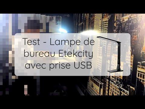 Lampe de bureau LED EtekCity avec prise USB