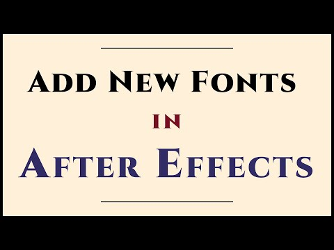 Add New Fonts to After Effects (Mac) — Quickly
