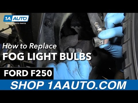 How to Replace Install Foglight Bulbs 2013 Ford F-250