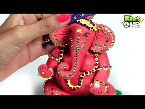 How To Make Ganesh Idol At Home With Play Doh - KidsOne