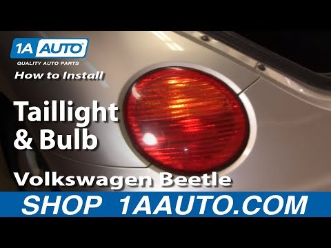 How To Install Replace Taillight and Bulb Volkswagen Beetle 98-05 1AAuto.com