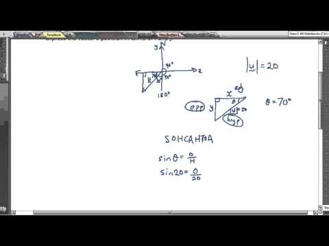 Vectors lesson 7 - Find the x and y components of a vector
