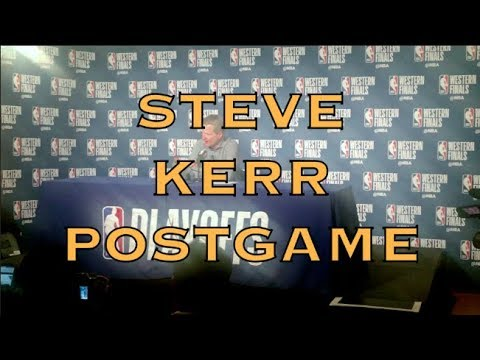 Entire STEVE KERR interview, postgame from Oracle Arena, 2018 WCF G6