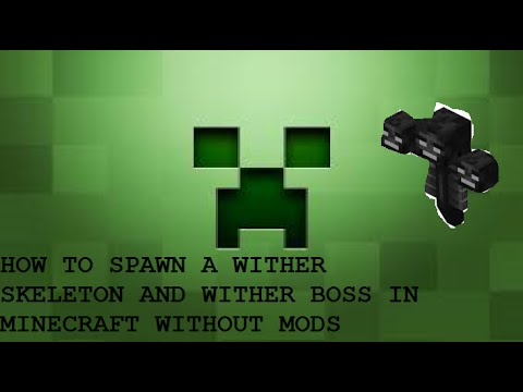 minecraft how to spawn wither skeleton and wither boss (NO MODS)