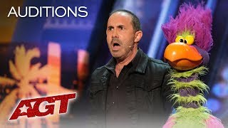 Michael Paul And His Hilarious Bird Of Prey Earn A YES! - America's Got Talent 2019