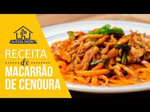 ⭐ MACARRÃO DE CENOURA COM MOLHO DE SHIMEJI | RECEITA